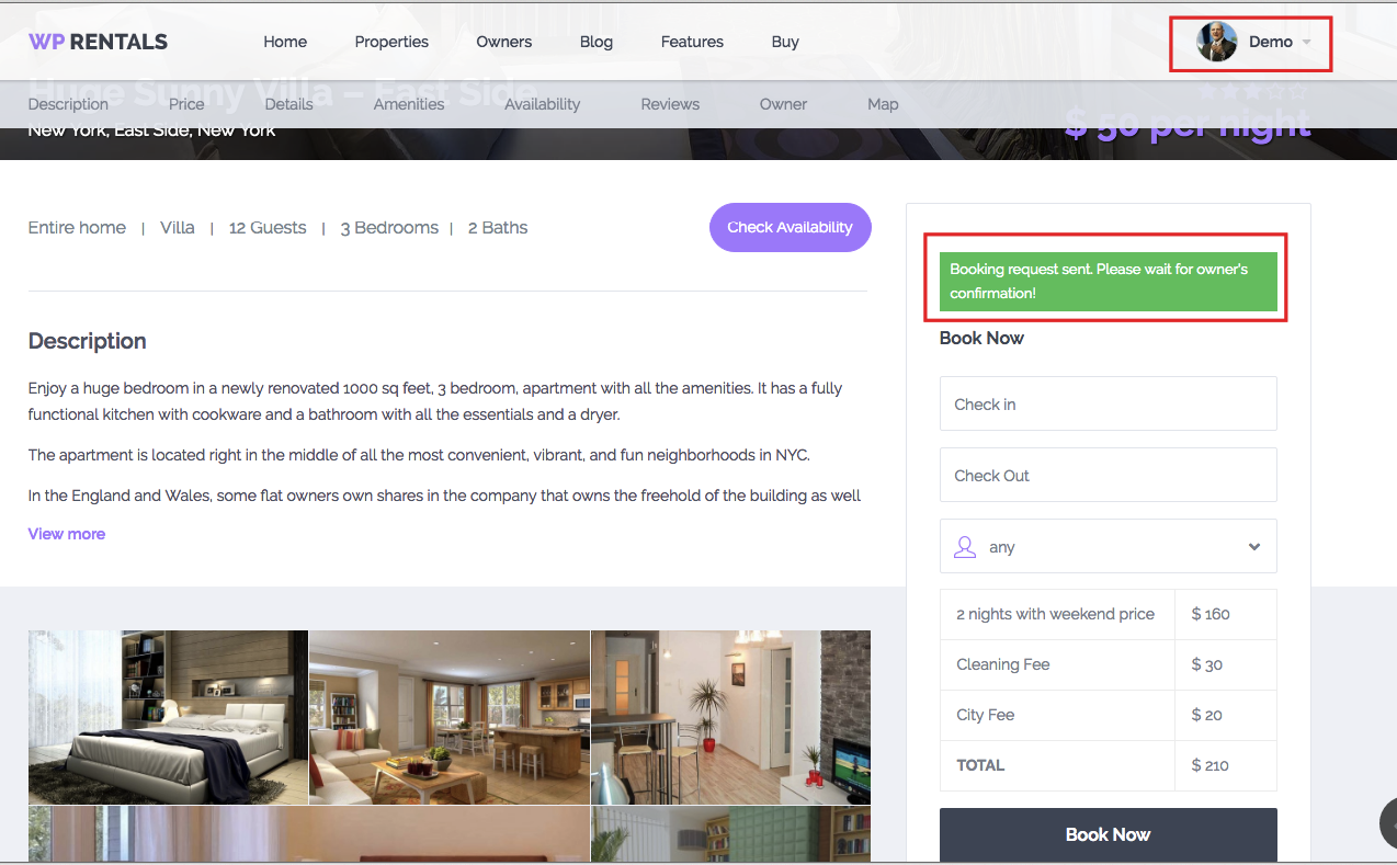 SEND BOOKING REQUEST APPROVE BOOKING ISSUE INVOICE REJECT - Issue invoice