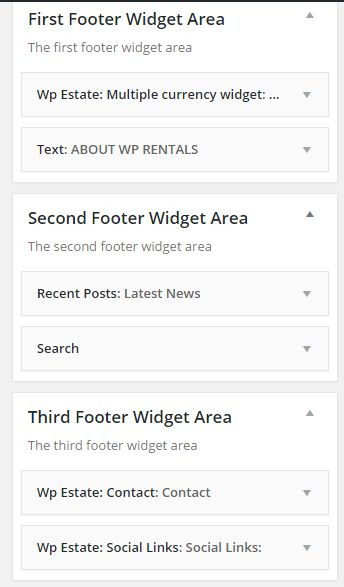 demo footer widgets