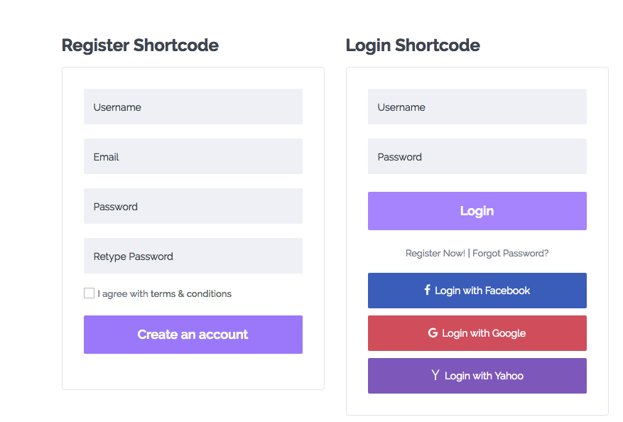 Login and Register Shortcodes - WP Rentals Help