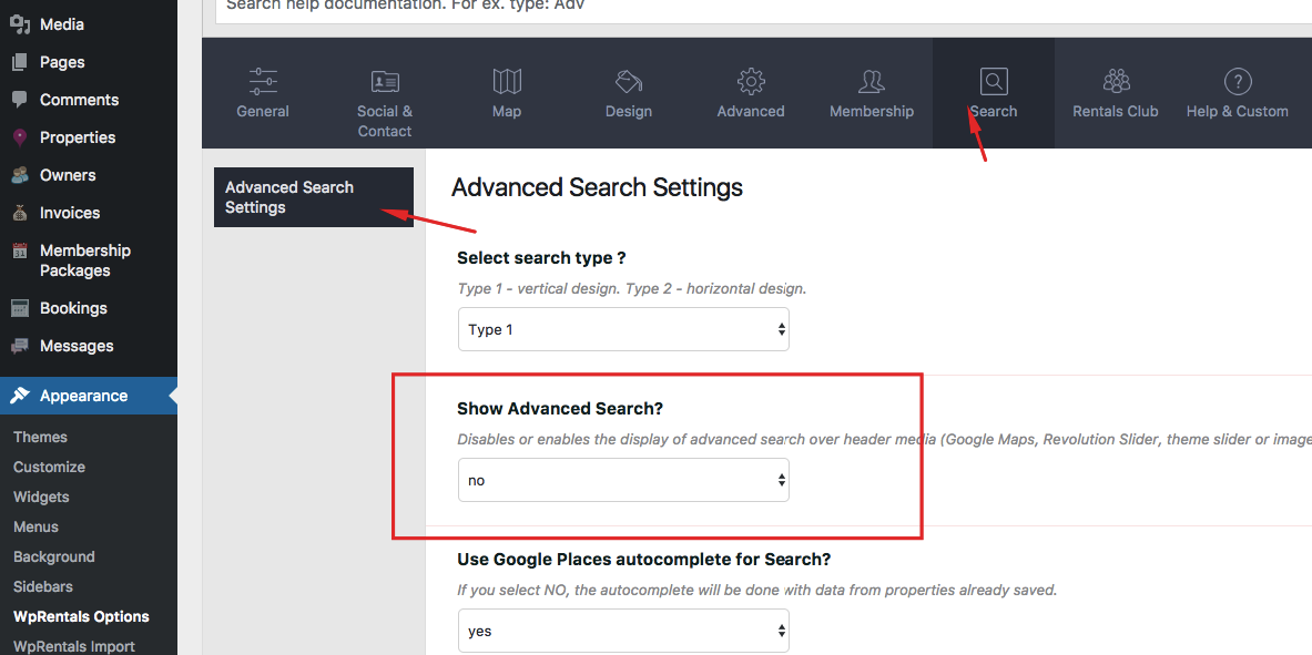 How To Remove Advanced Search From Entire Site