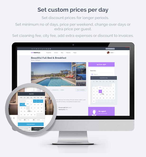 wprentals presentation custom price