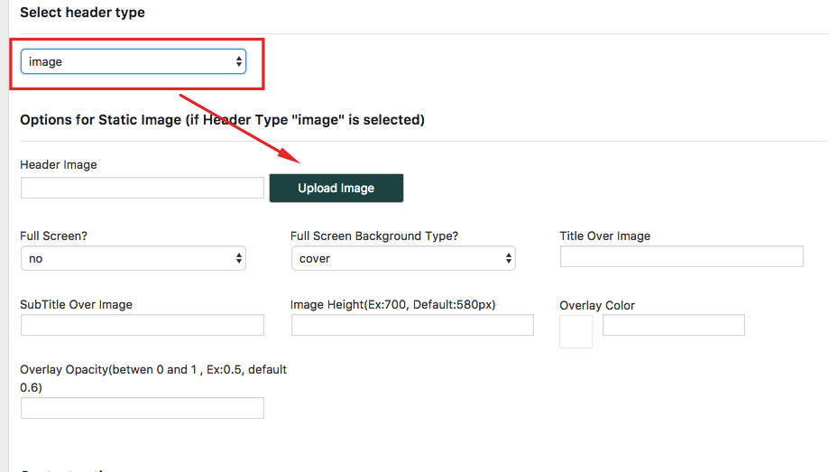 Custom Header Media Options For Pages Wp Rentals Help