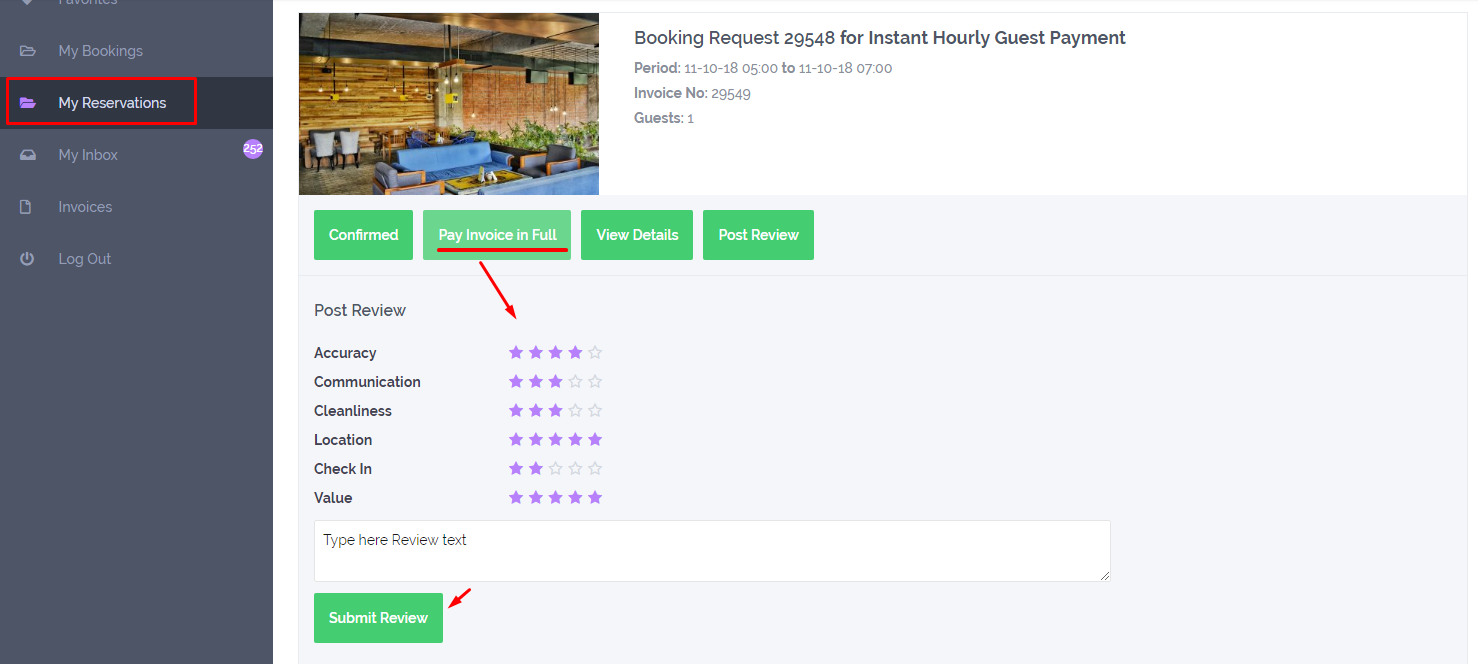 How to rate a property after booking was completed  How to