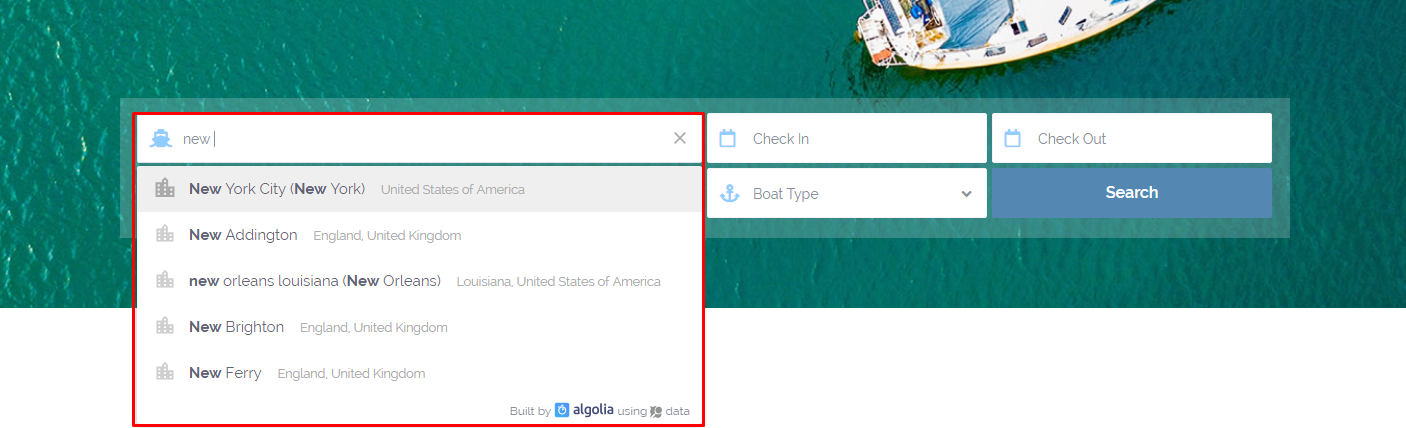Advanced Search Location Search Options - WP Rentals Help